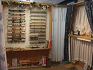 色々な種類のカーテンがたくさん!