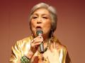 足利出身のシャンソン歌手 阿部美江さんのステージ